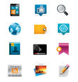 Communication and social media icon set 2 vector image