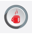 Drink glass icon Plastic paper cup symbol Red vector image