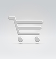 Silver shopping icon vector image vector image
