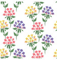 cute floral pattern of hydrangea vector image