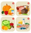 Healthy products containing vitamins Vitamin vector image