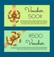 voucher 500 set gift certificates for discounts vector image