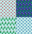 winter patterns vector image