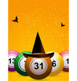 bingo halloween vector image vector image