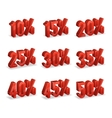 Discount numbers isometric 3d set vector image