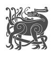 Ancient celtic mythological symbol of deer vector image