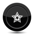 Button with star vector image vector image