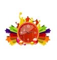 pop clock vector image vector image