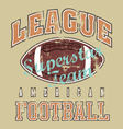league american football revise vector image vector image