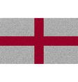 Flags England on denim texture vector image