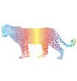 abstract rainbow leopard vector image