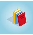 Three books icon isometric 3d style vector image