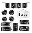 Black friday sale tags isolated On White vector image