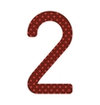 black number two design over red dotted vector image