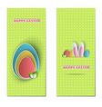 Easter backdrops vector image