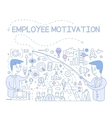 Employee Motivation Concept Infographic vector image