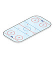 ice hockey field isolated on white background vector image