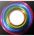 round border with rainbow light vector image