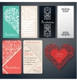 Set of invinanion cards vector image