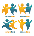 sportive and happy vector image