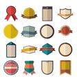 Vintage badges set vector image