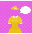 Woman dress with hat temlate without head vector image