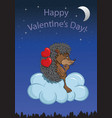 loving hedgehog vector image
