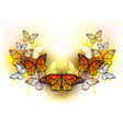 symmetrical pattern of butterflies monarchs vector image