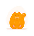 cute fatty ginger cat vector image