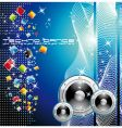 techno dance background vector image