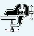Household desktop vice vector image