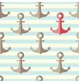 anchor in a seamless pattern vector image