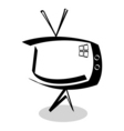 sketchy TV vector image