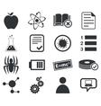 Science icon set 1 simple vector image