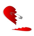 23 pinned heart vector image