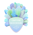 Soft triangle label with crystal splash beside it vector image