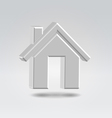 Silver house icon vector