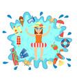 beach summer splash fun concept vector image