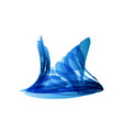 blue snail in technology style on white vector image