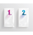 Collection of transparent glass banners vector image