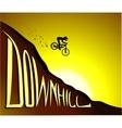 Downhill biker vector image