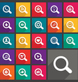 Flat search icons set vector image