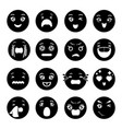 smiles icons set simple style vector image