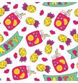 seamless hand drawn summer pattern vector image