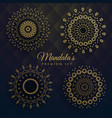 set of four manadala designs vector image