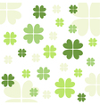 Seamless clover pattern vector image
