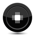 Button with microchip vector image vector image