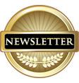 newsletter gold label vector image