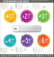 infographic design template colorful design 1 vector image vector image