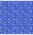 Blue Christmas Snowflakes Pattern vector image